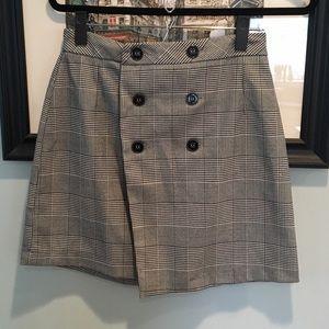 Zara plaid button skirt size M